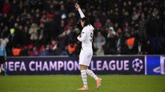 Edinson Cavani, durante el PSG – Galatasaray de la Champions League. (@ECavaniOfficial)