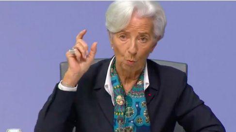 Christine Lagarde, durante su primera rueda de prensa como presidenta del BCE