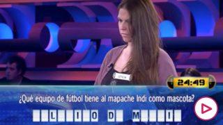 Leticia, concursante de '¡Ahora Caigo!'