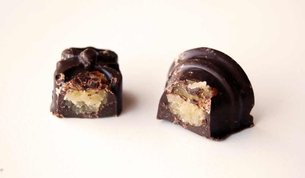 Receta de Mazapán con cobertura de chocolate