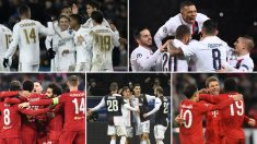 Los 16 equipos clasificados para octavos de la Champions League juegan en las cinco principales ligas europeas (AFP)