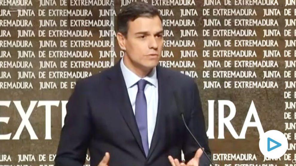 Pedro Sánchez en mayo de 2018: «El señor Torra no es más ni menos que el nuevo Le Pen de la política española».