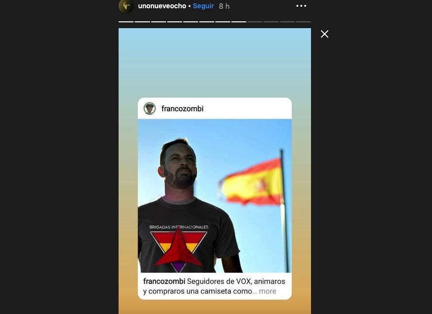 Publicación en Instagram de Uno Nueve Ocho.