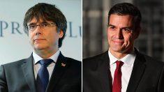 Carles Puigdemont y Pedro Sánchez.