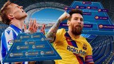 Real Sociedad y Barcelona se enfrentan en Anoeta.