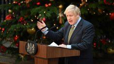 Boris Johnson habla este viernes, 13 de diciembre en Londres