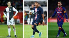 Mbappé ha alcanzado los 100 goles a nivel de clubes antes de cumplir los 21, mientras que Cristiano y Messi lo hicieron con más edad (Getty)