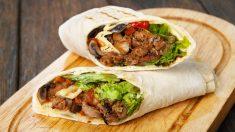 Receta de Burritos de carne picada y champiñones