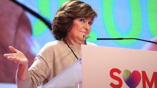 Carmen Calvo en el Congreso del PSC. (Foto. PSOE)