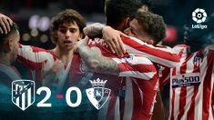 El Atlético se impuso 2-0 a Osasuna.