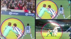 La Real Sociedad publicó unas imágenes que demuestran el agarrón de Piqué.