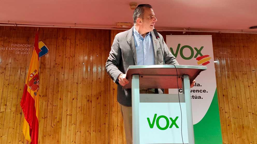 El secretario general de Vox, Javier Ortega Smith, en Lugo. Foto: EP