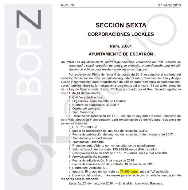 Otra adjudicación pública al estudio de arquitectura de Tomás Guitarte.