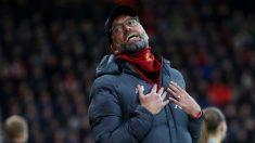 Klopp, en un partido con el Liverpool. (Getty)