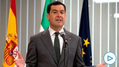 El presidente de la Junta de Andalucía, Juanma Moreno. (Foto: EFE).