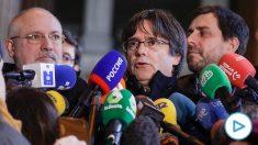 Carles Puigdemont en el Palacio de Justicia belga. (Foto: Europa Press).