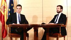 Pedro Sánchez, presidente del Gobierno en funciones, y Pablo Casado.