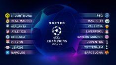 Emparejamiento de octavos de final de la Champions League.