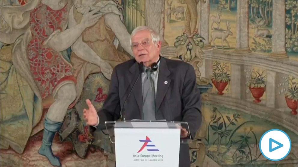 Borrell, durante su intervención.