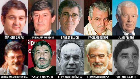 Estos son 10 de los 11 socialistas asesinados por ETA.