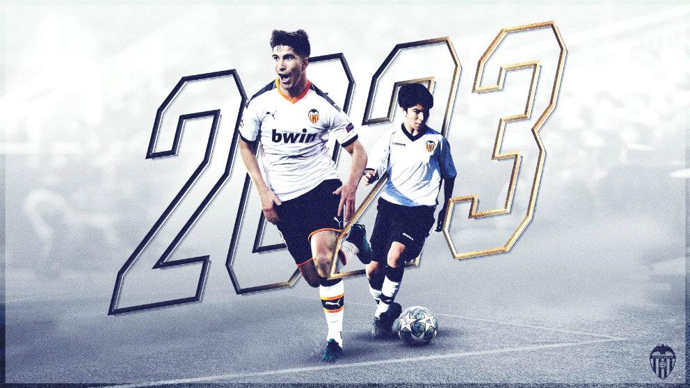 Carlos Soler renueva con el Valencia hasta 2023 (Valencia Club de Fútbol)