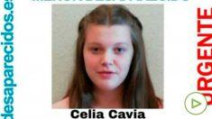 Cartel anunciando la desaparición de la pequeña Celia Cavia en Santander.