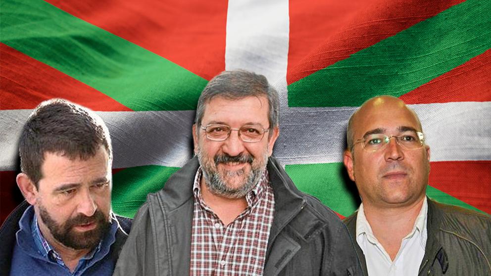 Los cargos del PNV Alfredo de Miguel, Aitor Tellería y Koldo Ochandiano