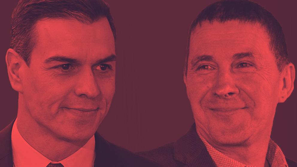 Pedro Sánchez y Arnaldo Otegi