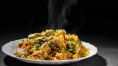 Receta de Risotto de pollo al curry