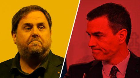 Oriol Junqueras y Pedro Sánchez.