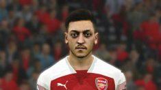 Mesut Özil en el Pro Evolution Soccer. (PES?