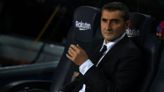 Valverde durante un partido en el Camp Nou. (Getty)
