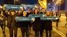 Laura Borràs (JxCAT), este miércoles, en la protesta de 'Tsunami' separatista.