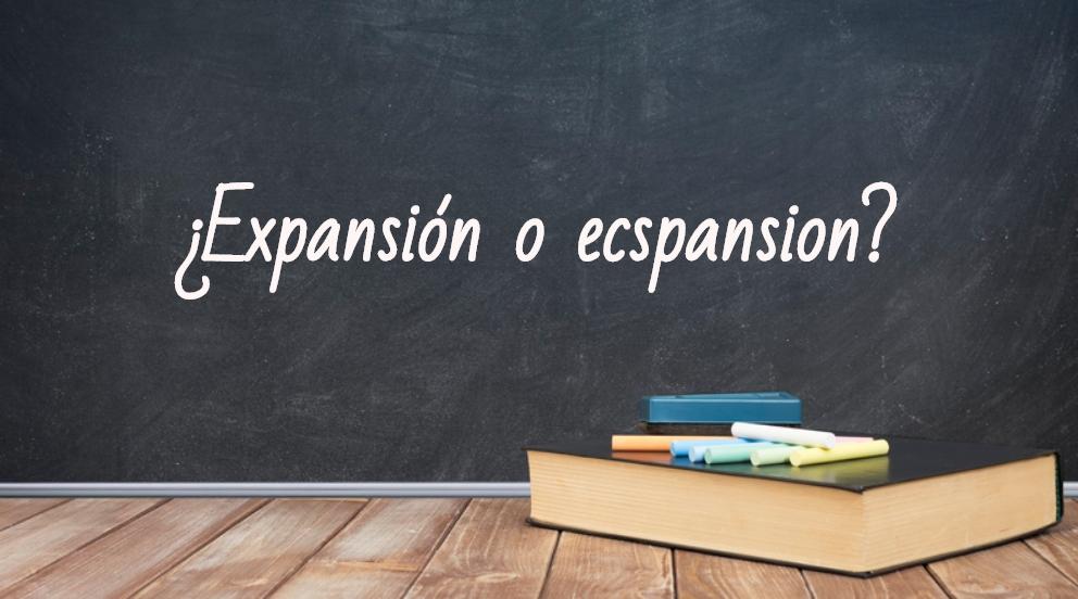 Se escribe expansión o ecspansión