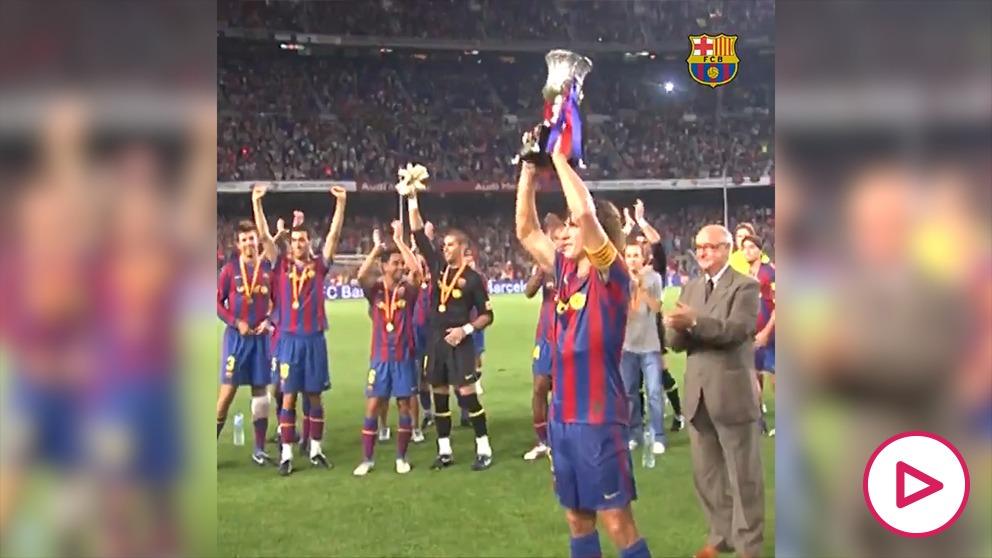 El Barça celebró el décimo aniversario del sextete sin Guardiola.