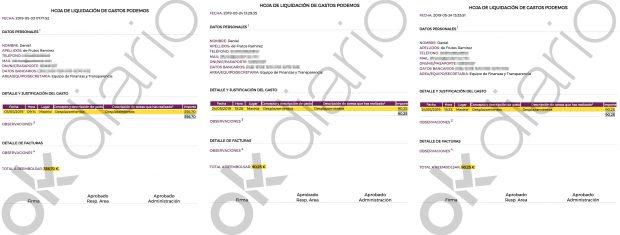 El tesorero de Podemos cobra 4.000 euros en B al año en sobresueldos: aquí están las pruebas