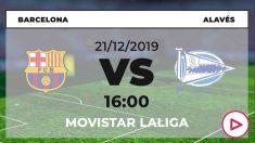 Liga Santander: Barcelona – Alavés  Horario del partido de fútbol de Liga Santander.
