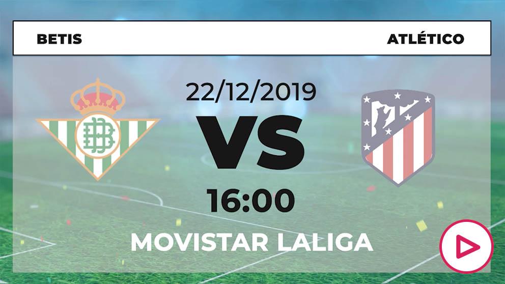 Liga Santander: Betis – Atlético   Horario del partido de fútbol de Liga Santander.