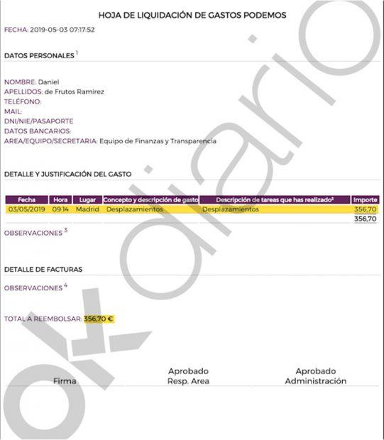 Estos son los apuntes contables del tesorero de Podemos que demuestran los sobresueldos