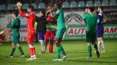 Jugadores de la Real Sociedad tras su partido de Copa frente al Becerril. (Real Sociedad)