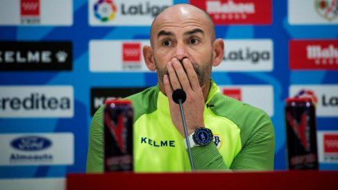 Paco Jémez, entrenador del Rayo Vallecano, en rueda de prensa. (EFE)