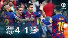 El Barcelona cierra 2019 como líder de la Liga Santander.