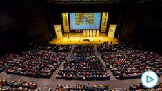 Pere Aragonès interviene en el Congreso de ERC que se celebra este fin de semana.