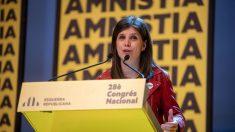 Marta Vilalta, durante su intervención en el Congreso de ERC.