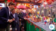 Montesinos y Almeida durante su visita al Mercado (PP)