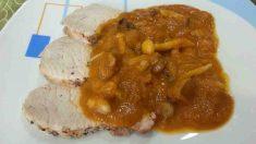 Receta de fricandó de cerdo con salsa