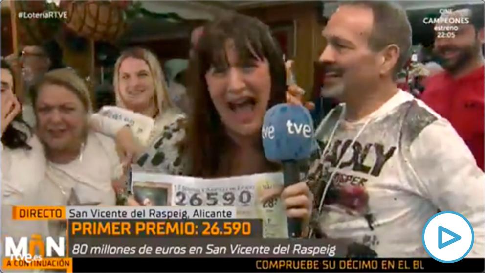 Natalia Escudero, reportera de TVE, ha ganado el Gordo de la Lotería de la Navidad.