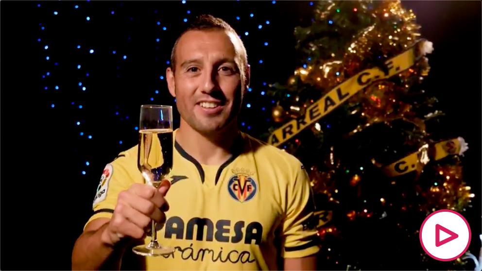 Santi Cazorla en la felicitación navideña del Villarreal. (Villarreal Club de Fútbol)