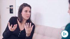 Irene Montero durante el vídeo