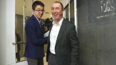 El portavoz de Compromís en el Congreso de los Diputados Joan Baldoví, y el portavoz de Más País Iñigo Errejón, antes de una rueda de prensa en el Congreso. (Foto: Efe)